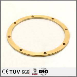 真鍮精密機械部品 CNC精密加工部品 した精密部品 銅旋盤加工部品  5軸マシニングセンター加工精密部品
