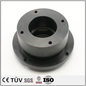 大連高品質金属加工部品 旋盤加工したSS400精密部品 表面処理黒染め精密部品