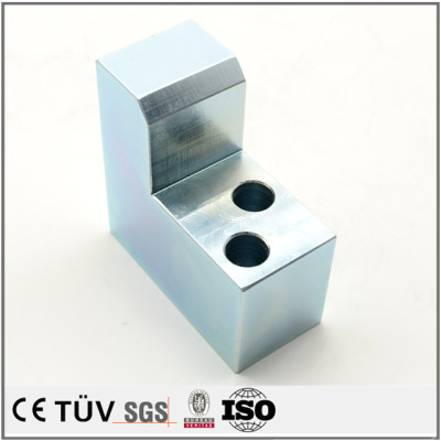 Hot sale customized zinc plating-blue white fabrication machining parts