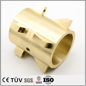Brass precision turning service CNC machining offset press parts