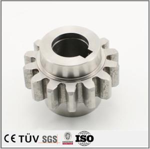 高品質のS45C材歯車 樹脂材の歯車 溶接した部品 ワイヤーカット部品 塗装した溶接部品