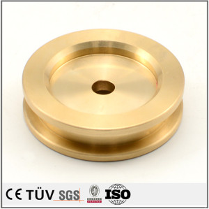 Brass precision turning service process CNC machining folding machine parts