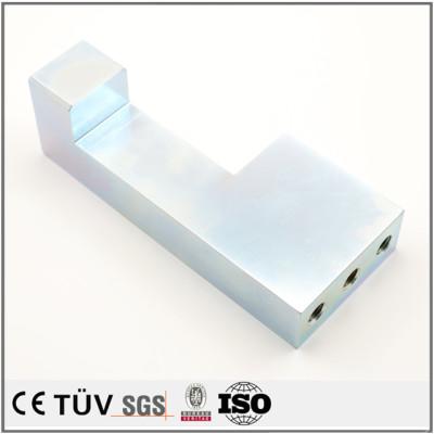 Precision customized blue white zinc plating service machining parts