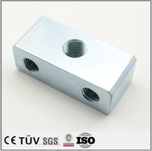 Precision customized blue white zinc plating service machining parts