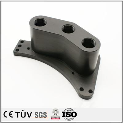 黒アルマイト  遮光筒 アルミ材 表面処理  旋盤加工