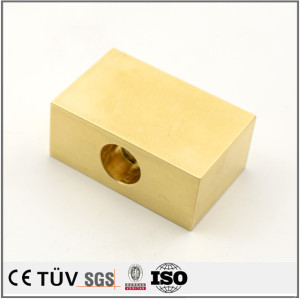 Brass precision milling fabrication service CNC machined parts used in aerospace field