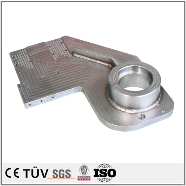 China OEM anodizing aluminum welding parts power coating steel welding parts sand blasted welding parts