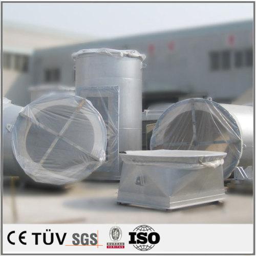 大型横式旋盤,80 t圧機部品加工溶接.