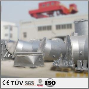 大型旋盤平面研磨機の溶接。