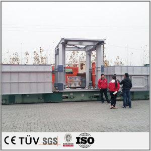 加工機大型溶接部品気体保護溶接