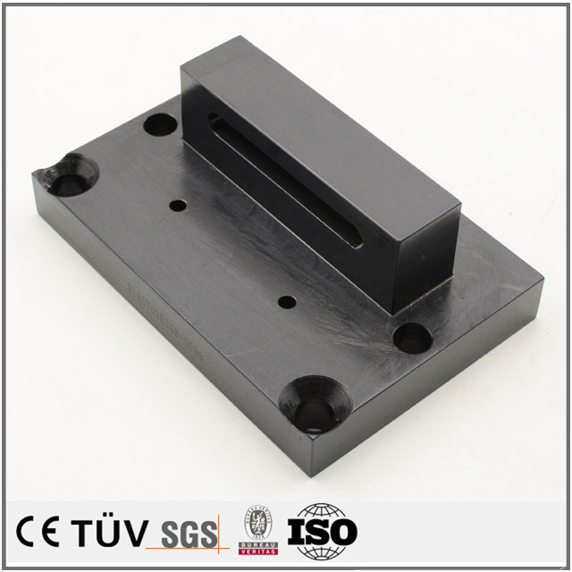 Custom black oxide service machined part