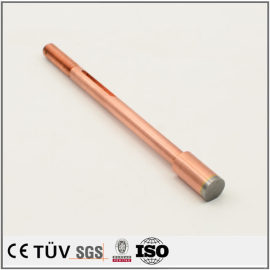 Precision customized red copper fabrication parts