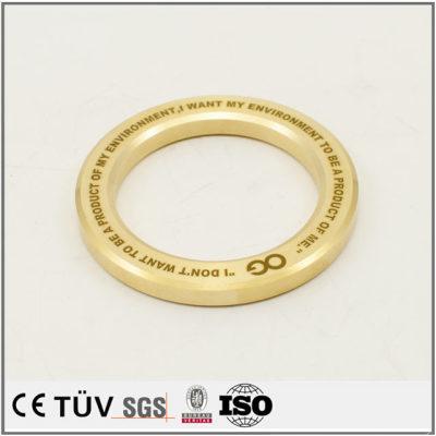 品質は真鍮の部品で、外円研磨バフ処理