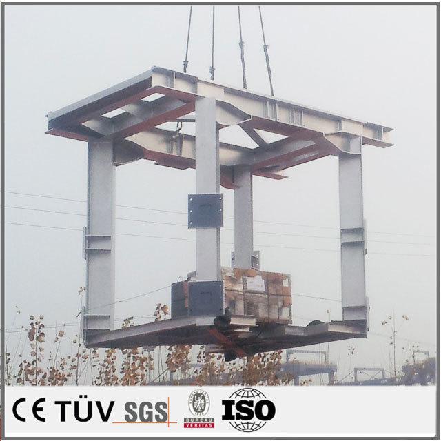 大型産業用の支柱溶接加工