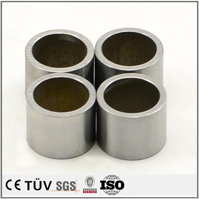 SK材質、CNC旋盤加工製品、調質熱処理、研磨加工