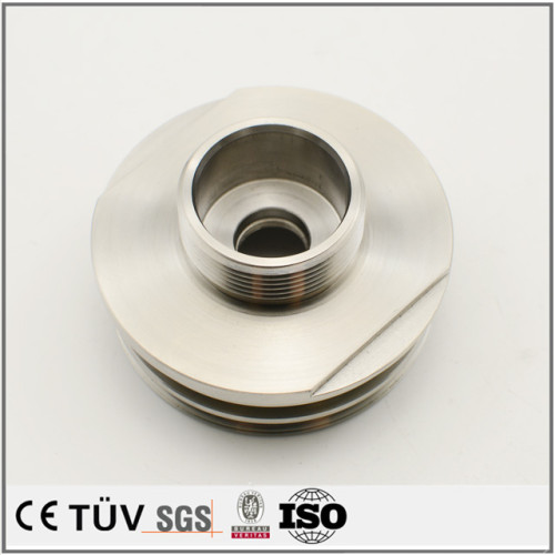 SUS材質、NC旋盤加工、ワイヤカード、キリザグリ工芸の精美金属部品