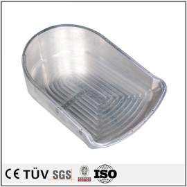 品質アルミ金属機械部品、 バフ、メッキ加工の工業機械パーツ