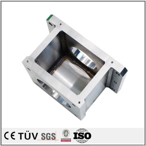 電子設備用溶接部品、SS400とSUS304材質、表面塗装処理金属パーツ