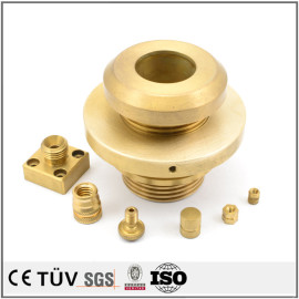 黄铜材料CNC车削铣削加工零部件 车铣复合五轴加工机