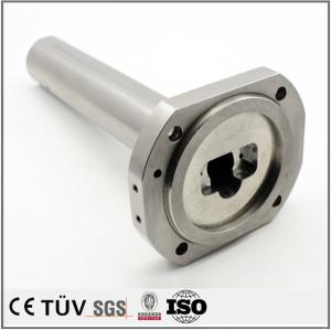 热处理调质处理,表面白色阳极氧化加工,精密钢材机械零部件