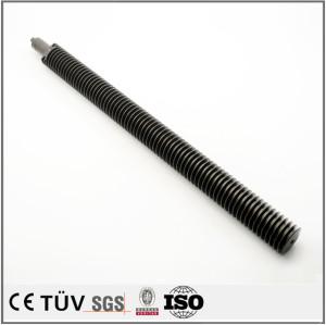 钢材质,钢管螺纹状精密加工,硬质氧化处理,五金用件