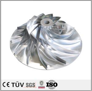 S45C材质,车铣复合5轴机精密加工,发电机用机械零件