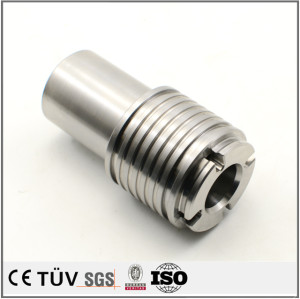 螺纹状金属零件,激光切割研磨,S45C材质,高精密部品