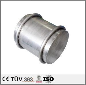 筒状钣金加工,钢铁材质,加工中心加工高精密机械零部件
