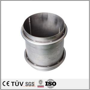 曲形钣金精密加工,调质热处理,筒状机械用