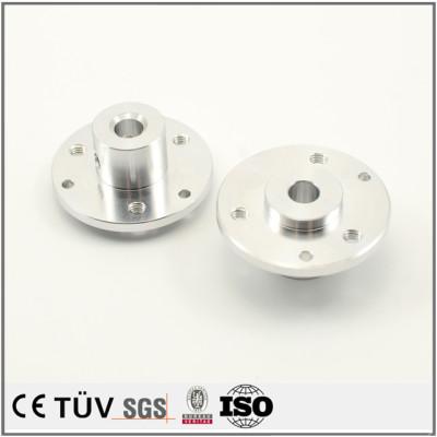 铝制精密零部件加工,批量生产,白色阳极氧化处理高精密部品