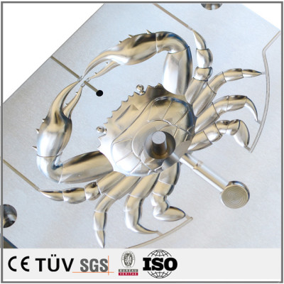 螃蟹模具精密加工,铝材质,非标CNC车床加工,高精密部品