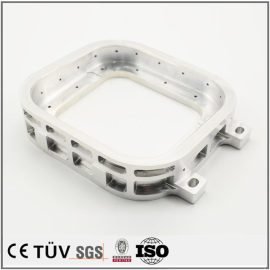 铝制白色阳极氧化部品,车床加工,加工中心制作完成,高精密机械零部件