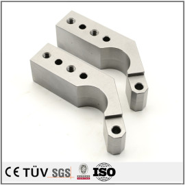 S50C材质,cnc非标加工,磨床加工,白色阳极氧化处理金属部品