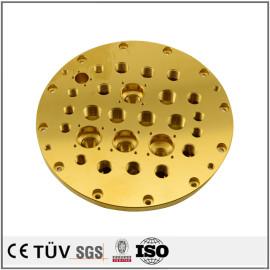 S45C材质,精密镀钛处理,慢丝精加工等零件