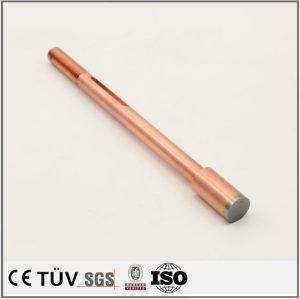 紫铜特殊材质,CNC车床加工,精密研磨,高外观部品