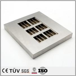 高精密钢材质机加工,慢丝加工,无电解镀镍处理等工艺部品