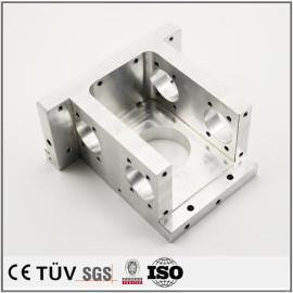 铝制推车状机械加工部品,车铣复合5轴联动加工,高精密设备