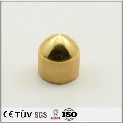 黄铜材质,镜面抛光,弹头形状机械零件加工
