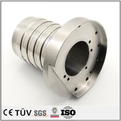 SUS304材质,调质热处理,车铣复合5轴加工,高精密设备