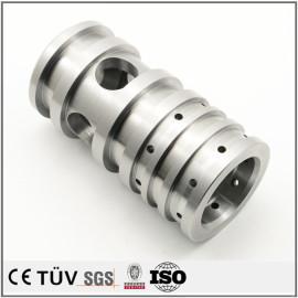 S45C材质,管材加工,通孔制作,无电解镀镍表面处理,高精密设备
