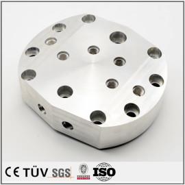 高精密铝制加工品,钻孔沉孔加工,车铣复合5轴联动加工,高精密设备
