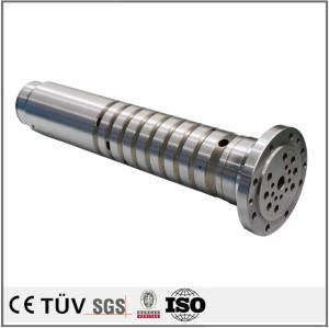 螺丝状钢制机械零部件,车床加工,无电解镀镍表面处理等高精密部品