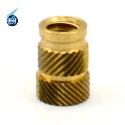 高精密黄铜机械零部件,车铣复合5轴加工,斜纹滚花等多工艺部品