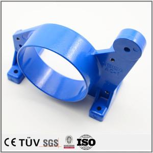 铸铁材质,高精密铸造部品,蓝色涂层加工,装配部品用