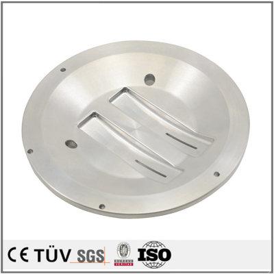铝材质,车铣复合5轴联动加工,白色阳极氧化,高精密部品