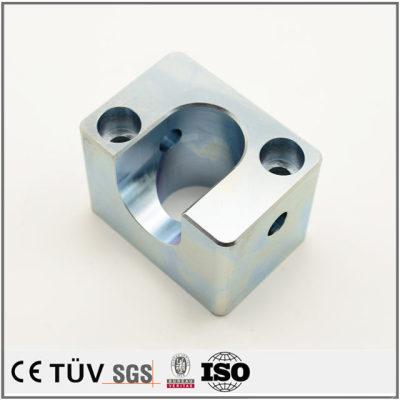 白钢材质,镀蓝白锌金属部品,加工中心加工,慢丝加工,高精密机械设备