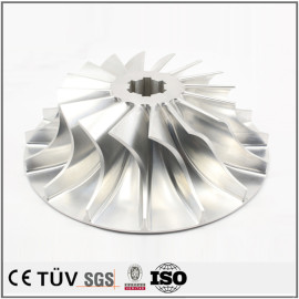 车铣复合5轴联动加工,高精密复杂机械零件加工,铝材质,白色阳极氧化处理