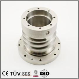 s45c材质,车铣复合5轴联动加工,加工中心加工,闪镀鉻表面处理等高精密部品