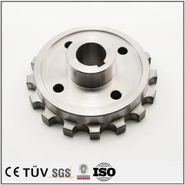 高精密齿轮加工部品,高硬度淬火回火加工,白钢材质,高精密设备用