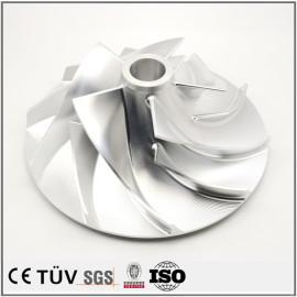 铝材质高精密部品,车羽加工,车铣复合5轴加工,镜面抛光研磨等工艺机械零件